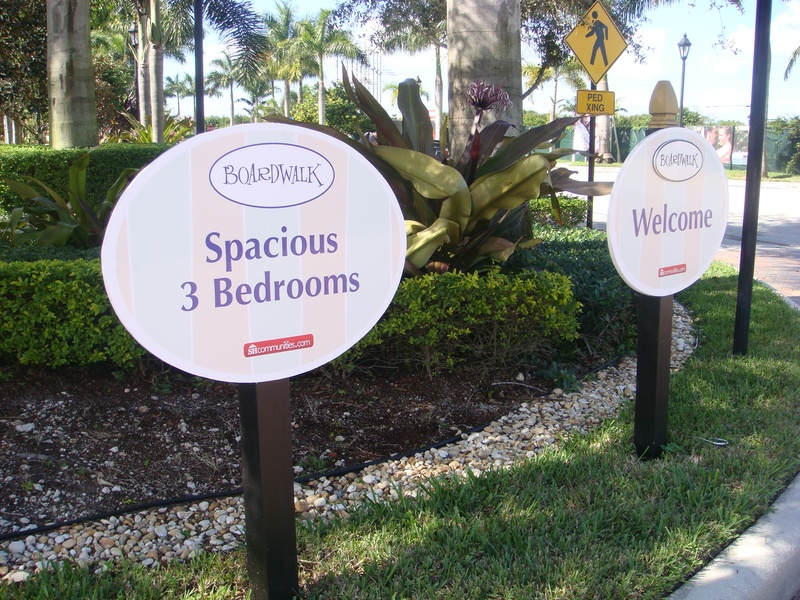 Cut-out MDO plywood signs