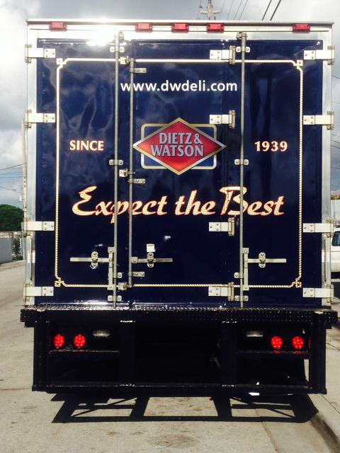 Box Truck Wrap with Gold leaf trim and lettering