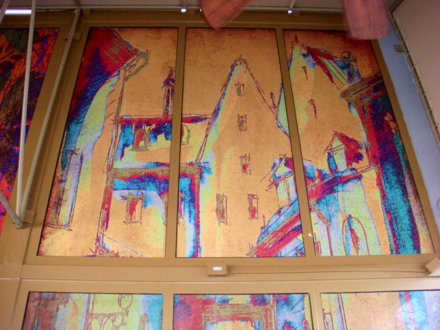 Large abstract print for window signs