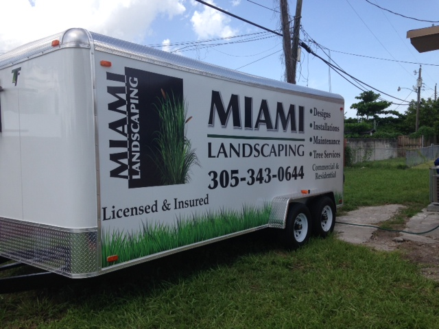 Landscaping Trailer Wrap