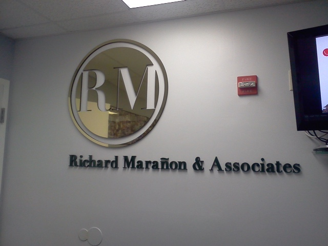 Dimentinional Signs installed in the interior office.